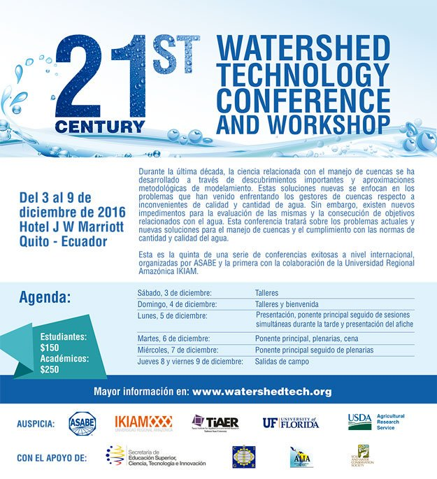 21st Century Watershed Technology Conference and Workshop